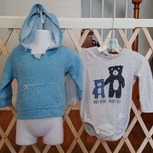 Boys 6-12 Months hoodie and shirt